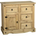 Farmhouse 1 Door 4 Drawer Sideboard