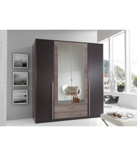 Schränke German 4 Door + 2 Drawers Mirrored Wardrobe