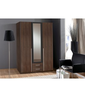 Schränke German 3 Door + 2 Drawers Mirrored Wardrobe