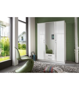 Schränke German 135cm Wide 3 Door Mirrored Wardrobe