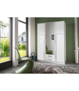 Schränke German 135cm Wide 3 Door Mirrored Wardrobe