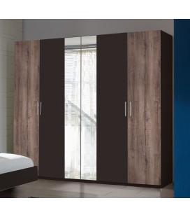 Schränke German 225cm Wide 4 Door Wardrobe