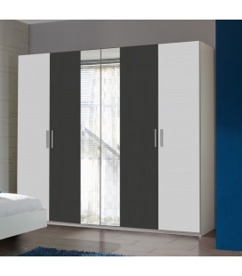 Schränke German 225cm Wide 4 Door Wardrobe