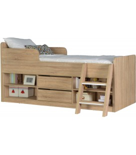 Berkley Low Sleeper Bed in Oak Veneer