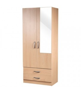 Classic 2 Door 2 Drawer Wardrobe - Available In 4 Colours