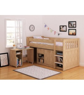 Percy Study Bunk in Oak Effect Veneer
