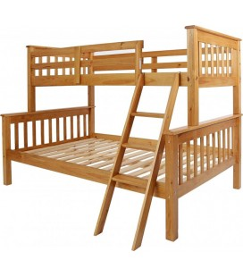 Maplin Triple Sleeper Bunk Bed in Antique Pine