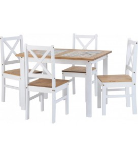 Keston Dining Set + 4 Chairs
