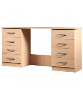 Classic Twin Pedestal Dressing Table - Available In 4 Colours