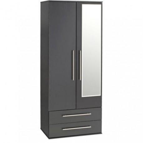 Modern 2 door 2 drawer wardrobe furniture2godirect for Furniture 2 go direct