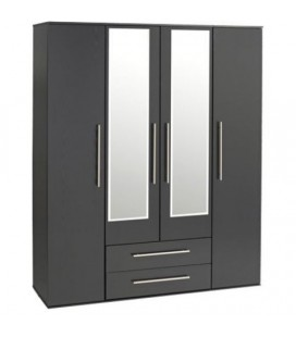 Modern 4 Door 2 Drawer Wardrobe