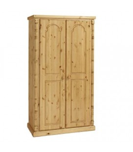 Traditional Solid Pine 2 Door Wardrobe
