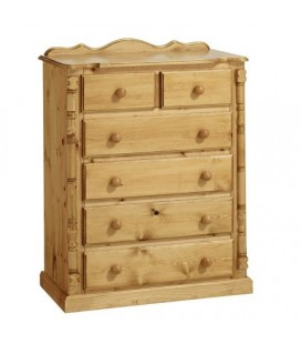Traditional Solid Pine 2+4 Chest of Drawers