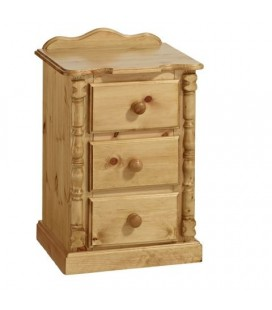 Traditional 3 Drawer Bedside Cabinet