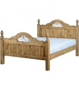 Farmhouse Scroll High Foot End Bed Frame