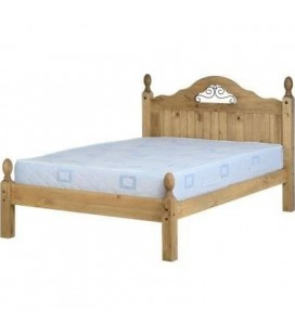 Farmhouse Scroll Low Foot End Bed Frame