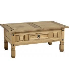 Farmhouse Coffee Table With Drawer