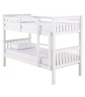 Novaro White Bunk Bed Frame