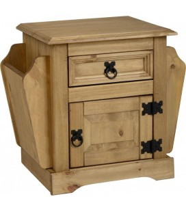 Farmhouse 1 Drawer Magazine Table