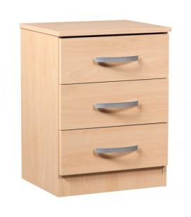 Classic 3 Drawer Bedside - Available In 4 Colours