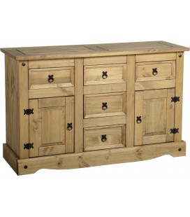 Farmhouse 2 Door 5 Drawer Sideboard