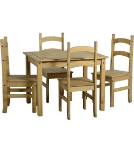 Farmhouse Dining Set + 4 Chairs