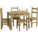 Farmhouse Dining Set + 4 Chairs