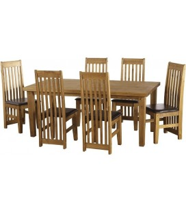 Eaton 6' Dining Set + 6 Chairs