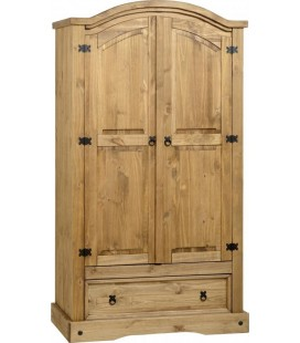 Farmhouse 2 Door 1 Drawer Wardrobe