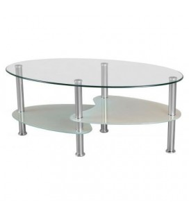 Lara Clear & Frosted Coffee Table