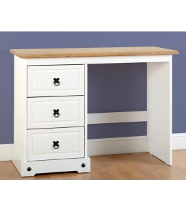 White Farmhouse 3 Drawer Dressing Table