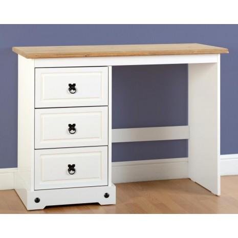 online store 375fd fc674 White Farmhouse 3 Drawer Dressing Table