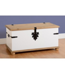 White Farmhouse Single Storage Chest