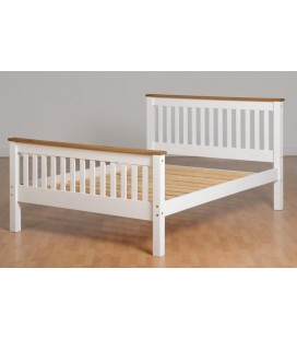 White Farmhouse High Foot End Bed Frame
