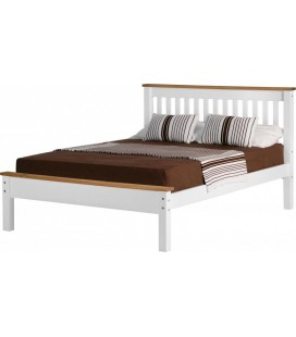 White Farmhouse Low Foot End Bed Frame