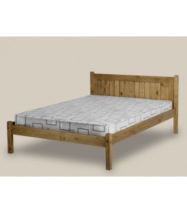 Classic Farmhouse Wooden Bed