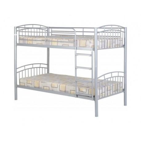 Victoria metal bunk bed frame furniture2godirect for Furniture 2 go direct
