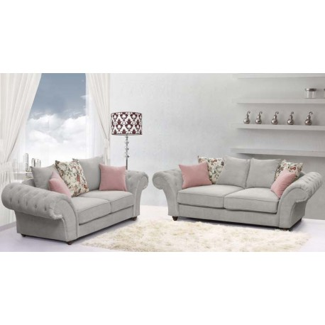 Silver rimani sofa furniture2godirect for Furniture 2 go direct