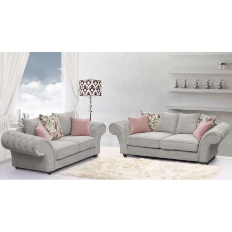 Silver Rimani Sofa Set